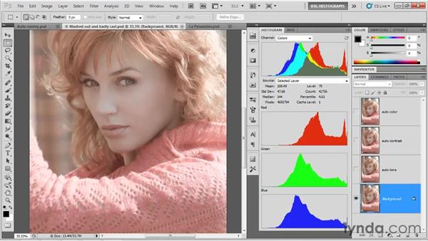 Auto Tone, Auto Contrast, and Auto Color: Photoshop CS5 One-on-One: Advanced