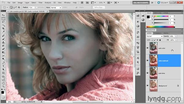 Blending the Auto results: Photoshop CS5 One-on-One: Advanced