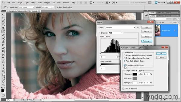 Introducing the Levels command: Photoshop CS5 One-on-One: Advanced