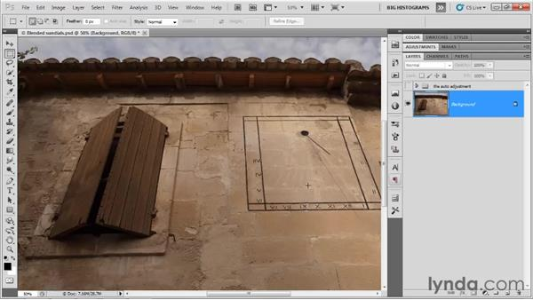 Applying custom Levels adjustments: Photoshop CS5 One-on-One: Advanced