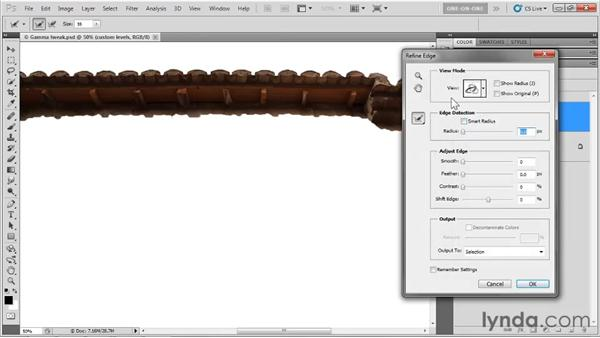 Selections and adjustment layers: Photoshop CS5 One-on-One: Advanced
