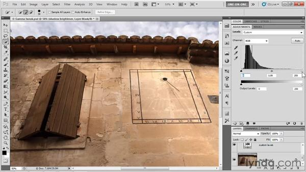 Opening up the shadows: Photoshop CS5 One-on-One: Advanced