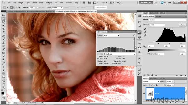 Previewing clipped pixels: Photoshop CS5 One-on-One: Advanced