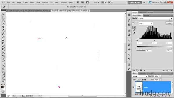 The black, white, and gray eyedroppers: Photoshop CS5 One-on-One: Advanced