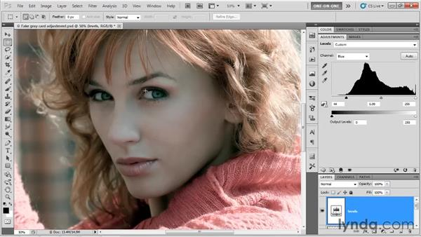Making channel-by-channel adjustments: Photoshop CS5 One-on-One: Advanced