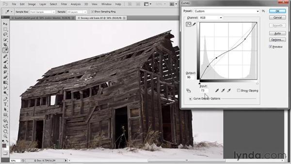 Curves dialog box tricks: Photoshop CS5 One-on-One: Advanced