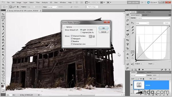 Curves adjustment layer tricks: Photoshop CS5 One-on-One: Advanced