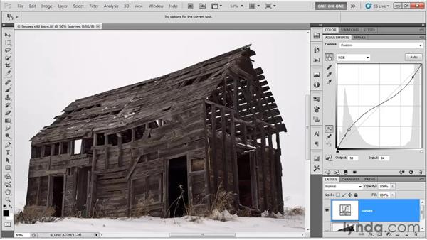 Correcting an image with Curves: Photoshop CS5 One-on-One: Advanced