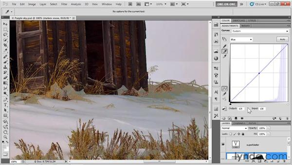 Neutralizing casts and smoothing transitions: Photoshop CS5 One-on-One: Advanced