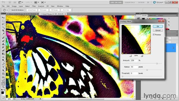 Radius and Threshold: Photoshop CS5 One-on-One: Advanced