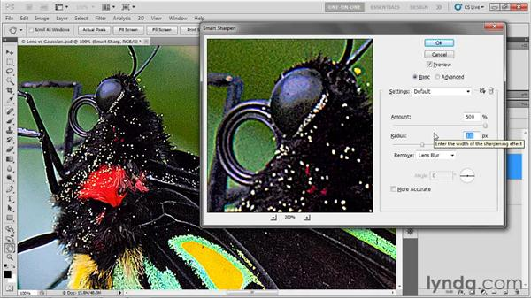 Using the Remove settings: Photoshop CS5 One-on-One: Advanced