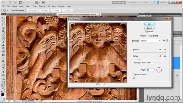 Accounting for camera shake: Photoshop CS5 One-on-One: Advanced