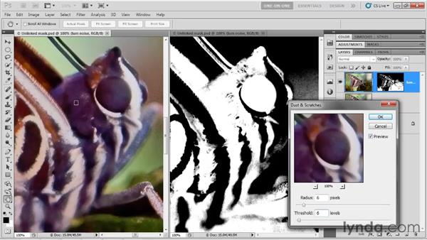 The Dust & Scratches filter: Photoshop CS5 One-on-One: Advanced