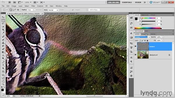 Converting noise to texture: Photoshop CS5 One-on-One: Advanced