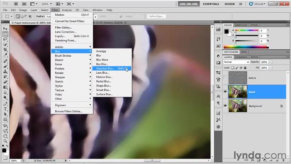 Bleeding colors into paper: Photoshop CS5 One-on-One: Advanced