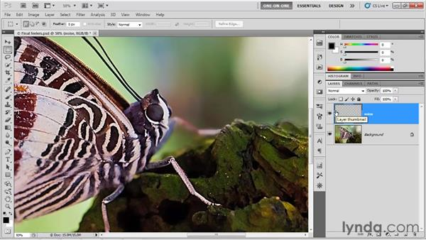 Matching different noise levels: Photoshop CS5 One-on-One: Advanced