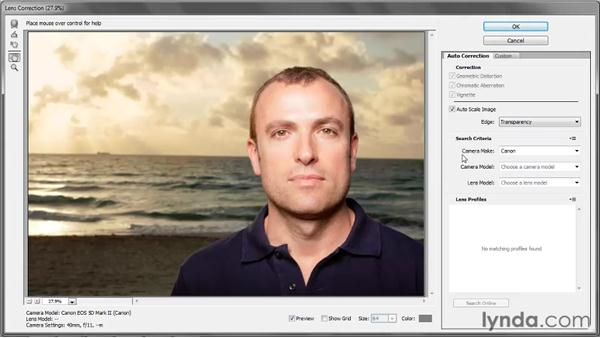 Applying automatic lens correction: Photoshop CS5 One-on-One: Advanced