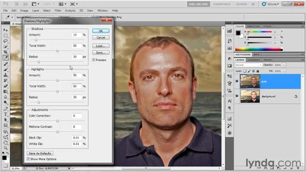 Shadows/Highlights in depth: Photoshop CS5 One-on-One: Advanced