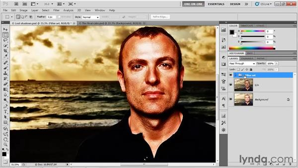 Grouping and masking layers: Photoshop CS5 One-on-One: Advanced