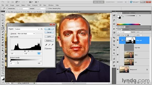 Adjusting the density of a mask: Photoshop CS5 One-on-One: Advanced