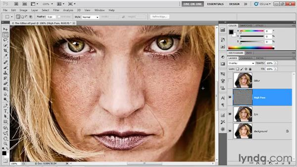 Smoothing with High Pass: Photoshop CS5 One-on-One: Advanced