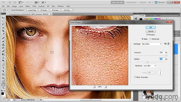 Inverting a sharpening effect: Photoshop CS5 One-on-One: Advanced