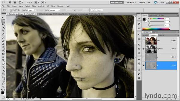 Extracting luminance information: Photoshop CS5 One-on-One: Advanced
