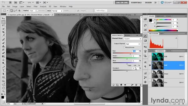 Introducing the Channel Mixer: Photoshop CS5 One-on-One: Advanced