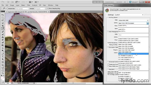 Color settings and intent: Photoshop CS5 One-on-One: Advanced