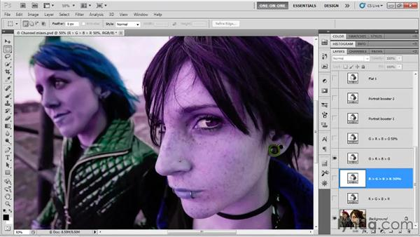 Practical Channel Mixer variations: Photoshop CS5 One-on-One: Advanced