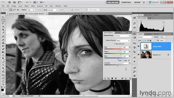 The default grayscale recipe: Photoshop CS5 One-on-One: Advanced