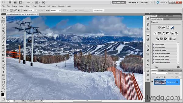 Introducing the Black & White command: Photoshop CS5 One-on-One: Advanced