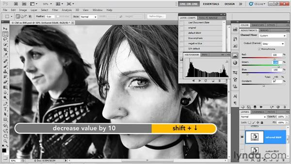 Black & White vs. Channel Mixer: Photoshop CS5 One-on-One: Advanced