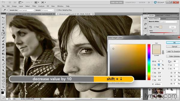 Adding tint and color: Photoshop CS5 One-on-One: Advanced
