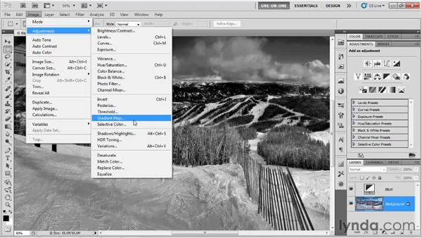 Introducing the Gradient Map: Photoshop CS5 One-on-One: Advanced