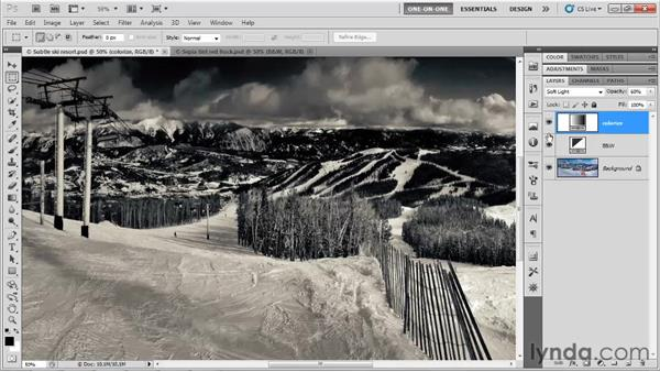 Colorizing with blend modes and Opacity: Photoshop CS5 One-on-One: Advanced