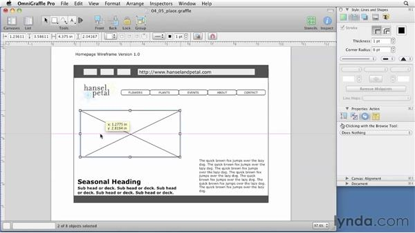 Using best practices in a wireframe: OmniGraffle 5: Creating Web Sitemaps and Wireframes