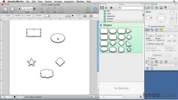 Using shapes: OmniGraffle 5: Creating Web Sitemaps and Wireframes