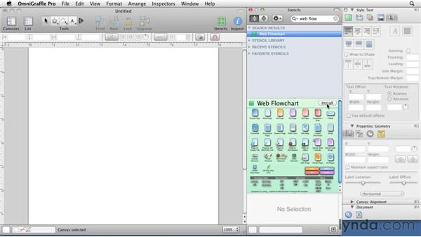 Finding Stencils: OmniGraffle 5: Creating Web Sitemaps and Wireframes