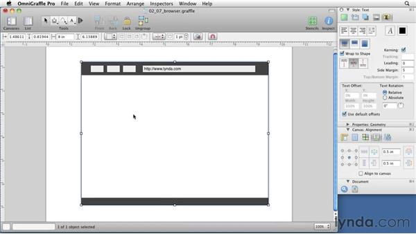 Grouping and locking objects: OmniGraffle 5: Creating Web Sitemaps and Wireframes