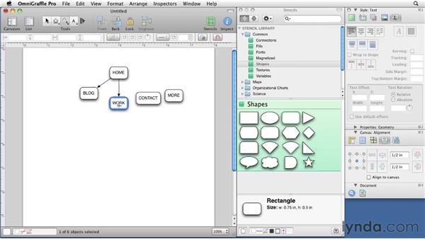 Building your first sitemap: OmniGraffle 5: Creating Web Sitemaps and Wireframes