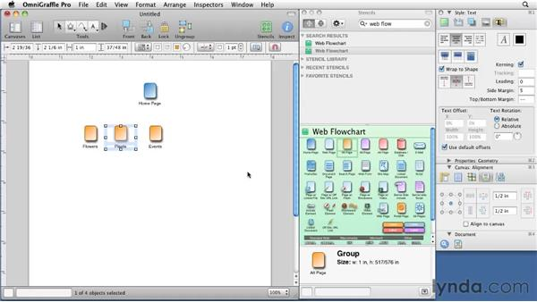 Quickly building a sitemap with a stencil: OmniGraffle 5: Creating Web Sitemaps and Wireframes