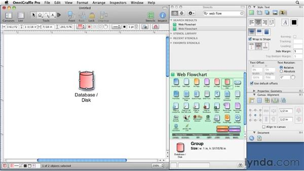 Customizing stencil shapes: OmniGraffle 5: Creating Web Sitemaps and Wireframes