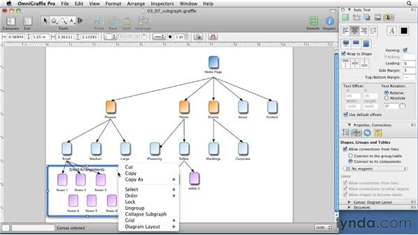 Using subgraphs for excess content: OmniGraffle 5: Creating Web Sitemaps and Wireframes