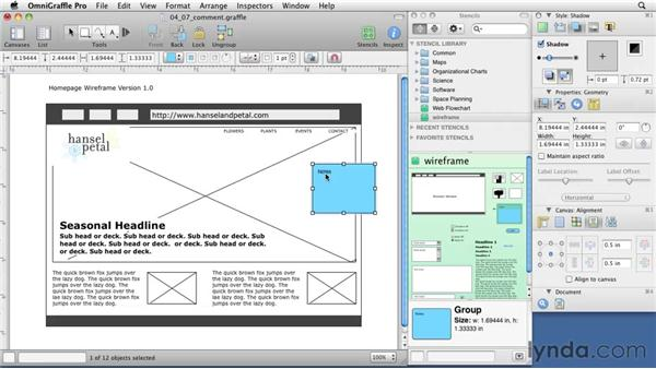 Adding comments: OmniGraffle 5: Creating Web Sitemaps and Wireframes