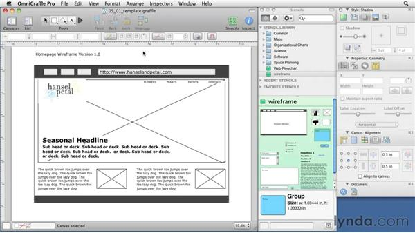 converting a homepage wireframe into a template. Black Bedroom Furniture Sets. Home Design Ideas