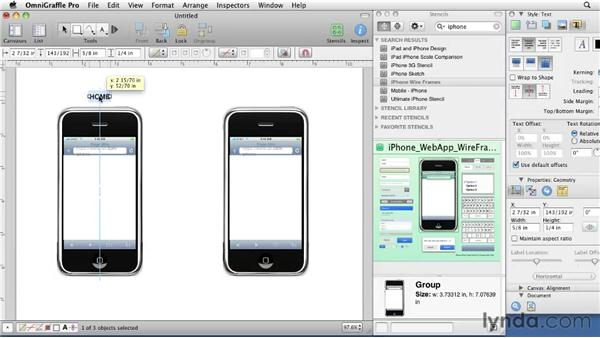Wireframing for mobile devices: OmniGraffle 5: Creating Web Sitemaps and Wireframes