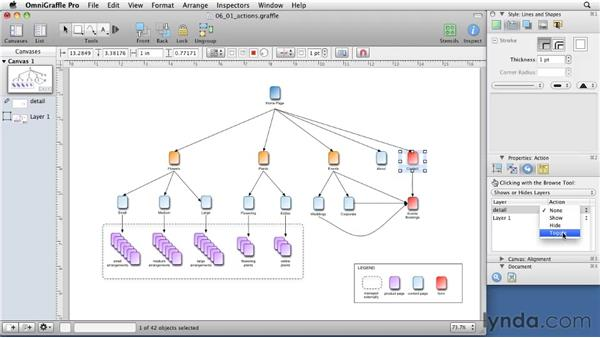 Enhancing diagrams with interactivity: OmniGraffle 5: Creating Web Sitemaps and Wireframes