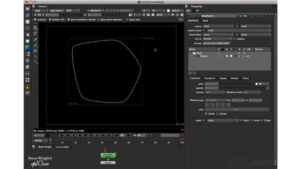 Editing shapes: Nuke 6 New Features