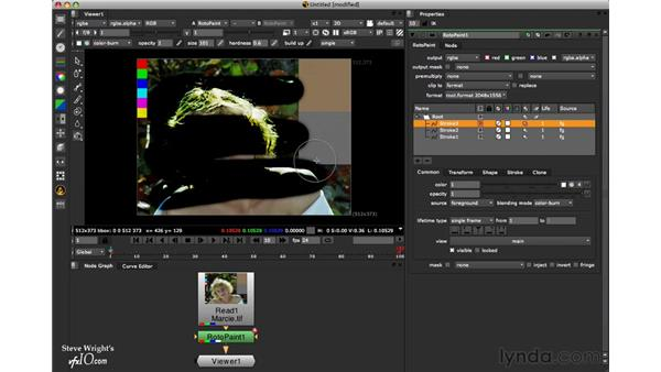 The Dodge tool: Nuke 6 New Features